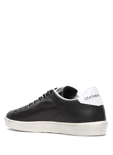 Leather Crown Sneakers Siyah